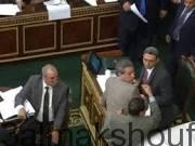 """Photo of بالصور….قاهر التطبيع يضرب بحذائه توفيق عكاشة بـ""""الجزمة"""" للقائه السفير الإسرائيلي"""