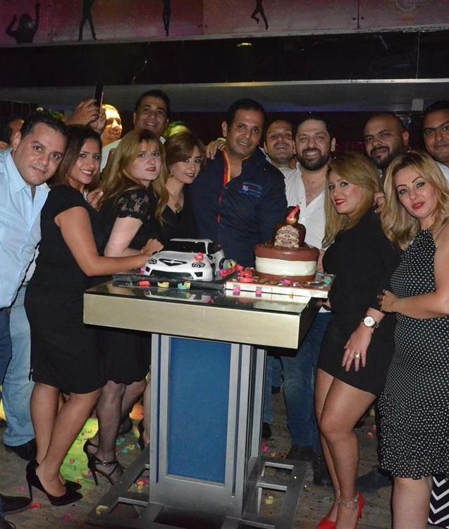 بالصور احتفال رجلا الأعمال شهاب راغب وشريفالشناوي بعيد ميلاد هما