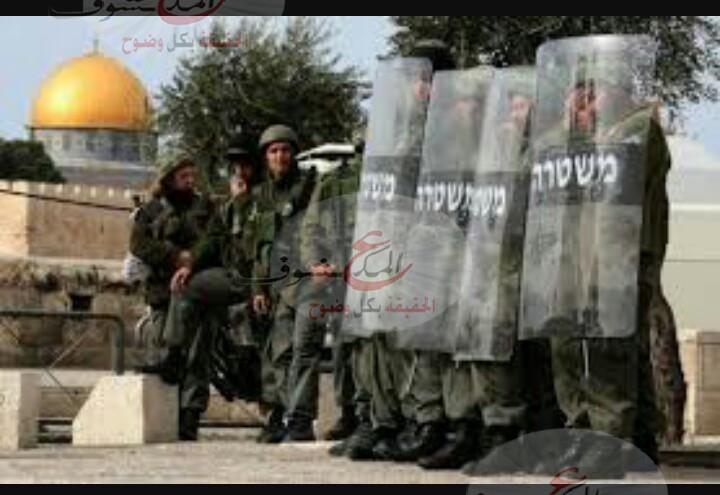 """Photo of الإحتلال الإسرائيلي يغلق المنطقة المحيطة بالمسجد """" الأقصى """""""