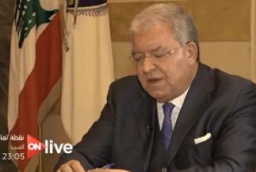 وزير الداخليه اللبناني في ضيافه الحسيني