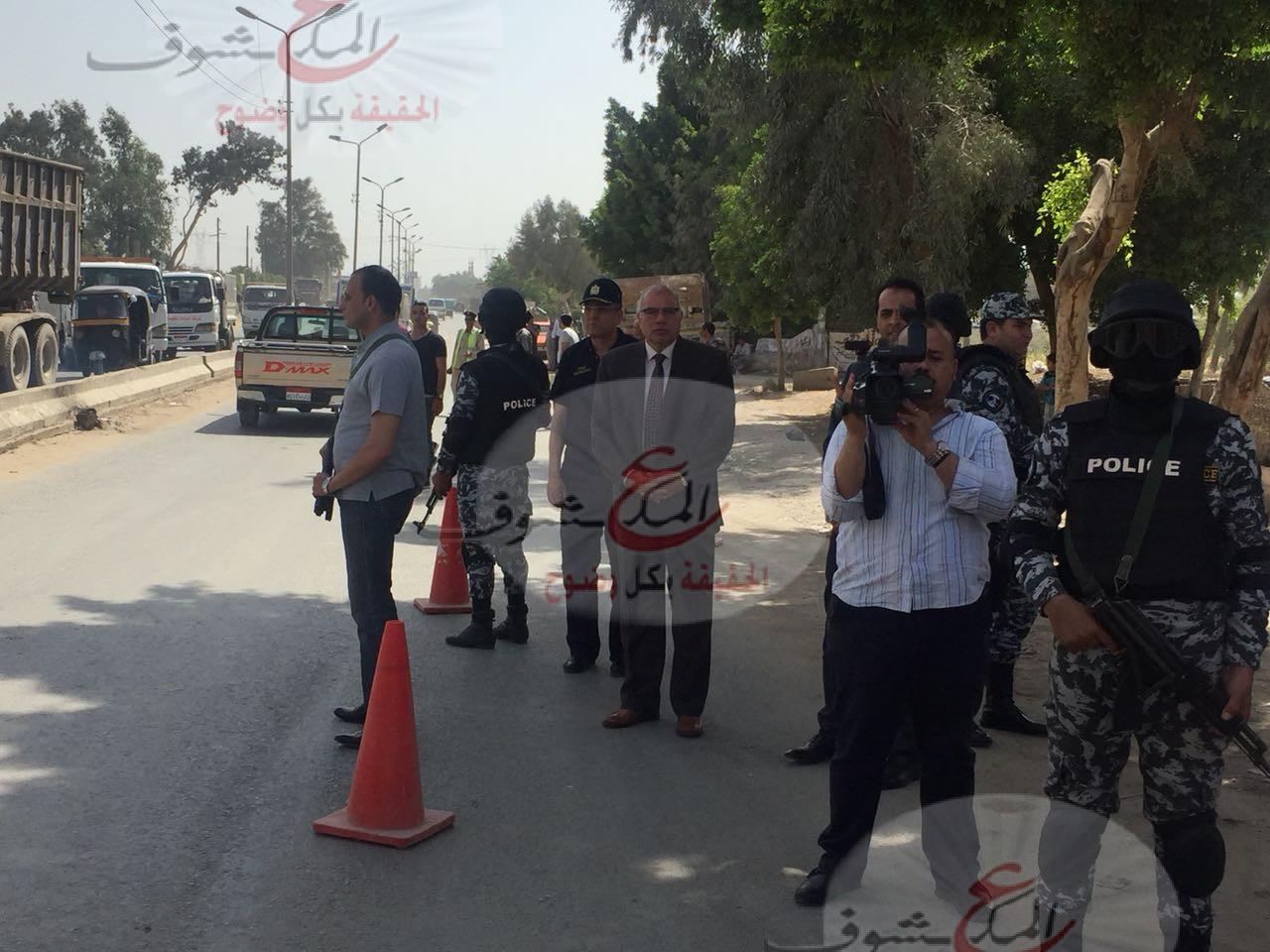 بالصور .. الآن حملة لمدير أمن القليوبية أعلى كوبري أبو زعبل بالخانكه