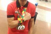 اللاعب  بدر سعيد يحرز ثلاث ميداليات ذهبية في بطولة أفريقيا لمصارعة الذراعين بمالي .